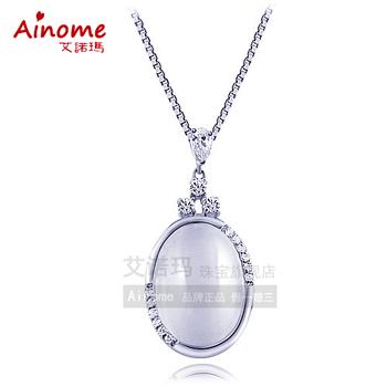 Crystal necklace eternal light pure silver 18k platinum necklace birthday gift schoolgirl