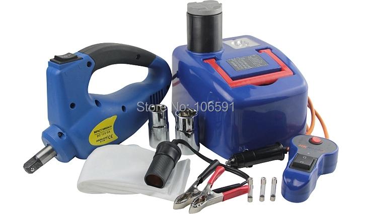 Car Power, DC 12V electric hydraulic jacks, versatile tire wrench, repair tools kit(China (Mainland))