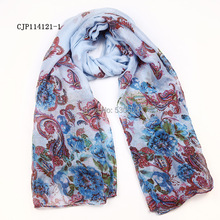 peony flower print Scarf Shawl Wrap 100pcs/lot mixed color