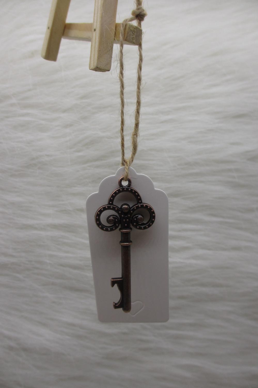 100pcs lot wedding favor wedding tags antique copper skeleton key beer bottle. Black Bedroom Furniture Sets. Home Design Ideas