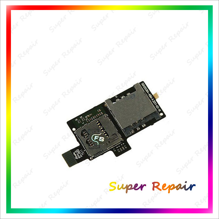 New SIM Card Module Socket Slot Memory Reader Holder Tray Flex Cable For HTC Sensation 4G XE G14 G18 Z71E Free Shipping(China (Mainland))