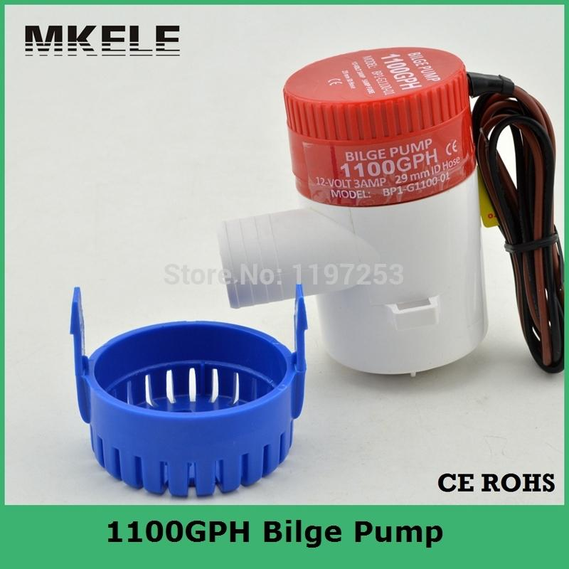 Envío gratis bomba de agua 1100GPH 12 V Sumergibles De Achique Bomba De Alto Flujo utilizado en barcos hidroavión autocaravanas casa flotante(China (Mainland))