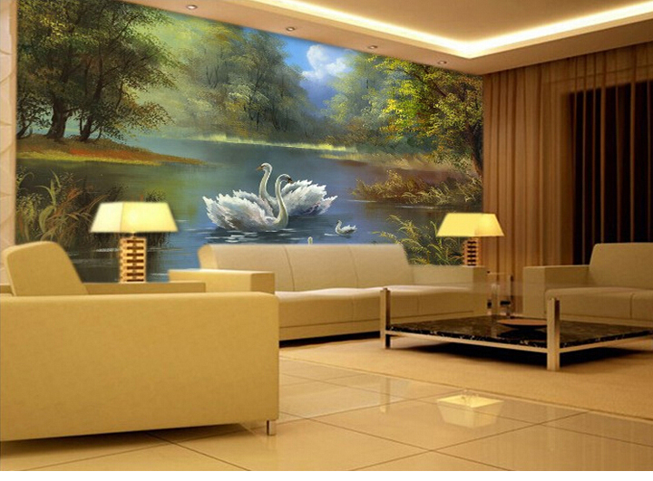 wallpaper murals for living room images. Black Bedroom Furniture Sets. Home Design Ideas