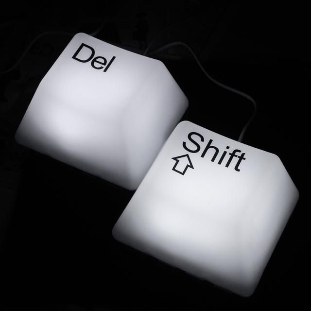New Creative keypad sleep lamp novel Keyboard Shape keypress night light LED Energy-saving lamps best gift