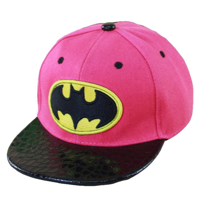 Бэтмен Дизайн Моды Мальчик Бейсболки Для 3-8 Лет Дети Snapback Caps Высокого Качества ...