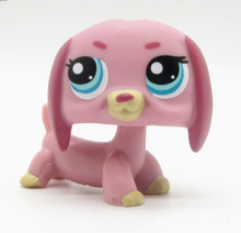 LPS cute toys Lovely Pet shop animal action figure doll pink Dachshund puppy dog