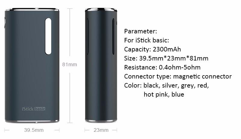 ถูก 100%เดิมบุหรี่อิเล็กทรอนิกส์eleaf iStickพื้นฐานชุด2300มิลลิแอมป์ชั่วโมง2มิลลิลิตรกล่องสมัยvape GSอากาศ2 Vaporizerเครื่องฉีดน้ำ