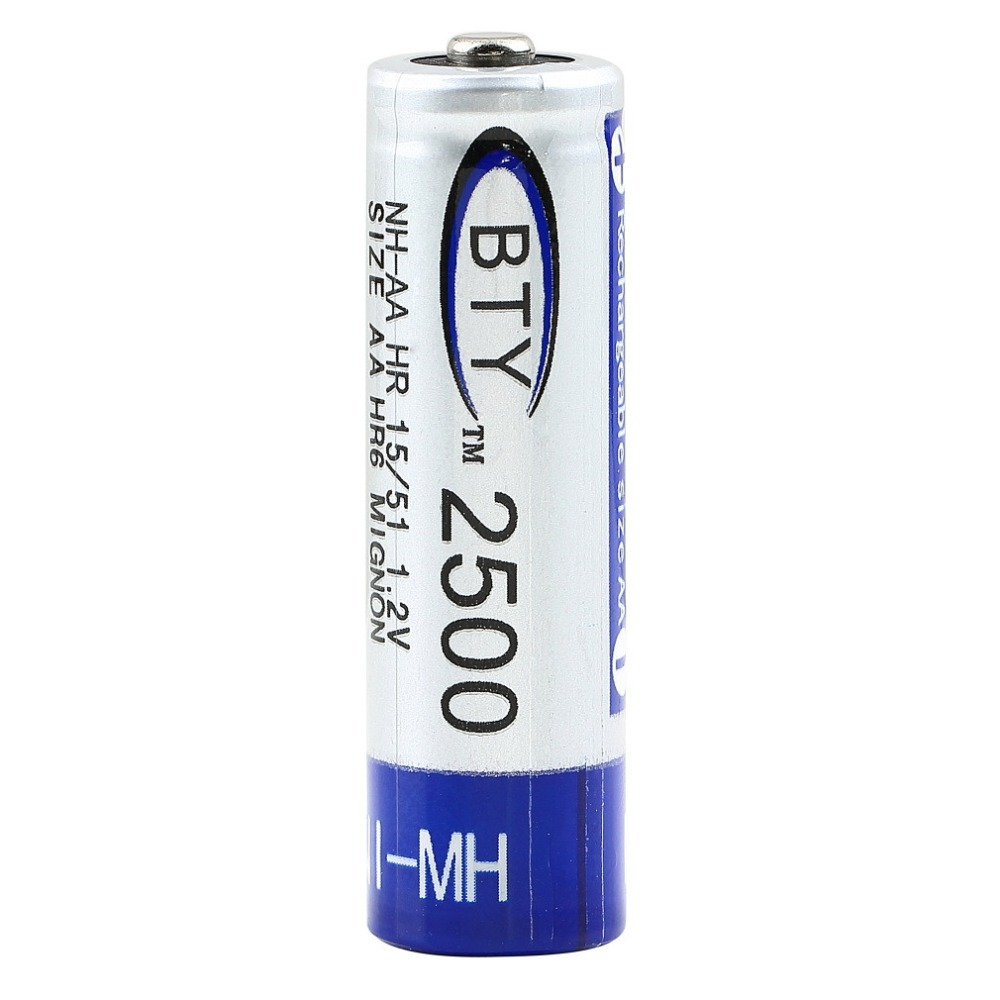 2016 Hot 1Pcs AA 2500mAh 1.2V NI-MH NIMH Rechargeable Batteries est Worldwide Whosale(China (Mainland))