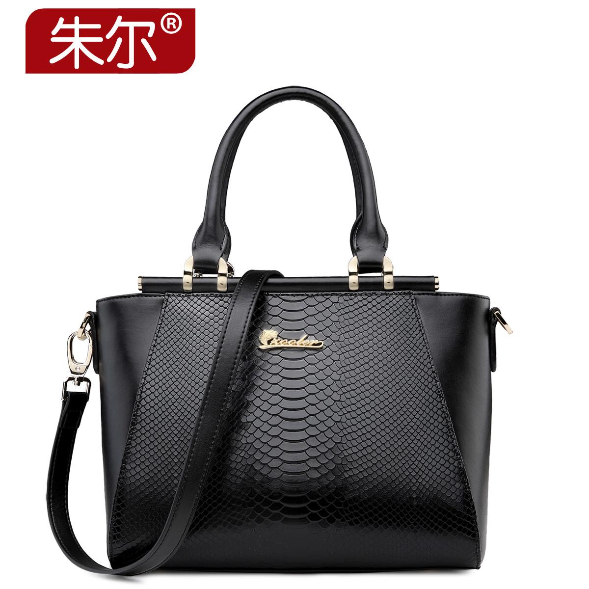Serpentine pattern women's cowhide handbag fashion women's bags handbag casual shoulder bag single female