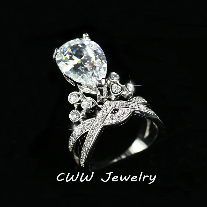 luxury famous designer women jewelry big oval cut cubic