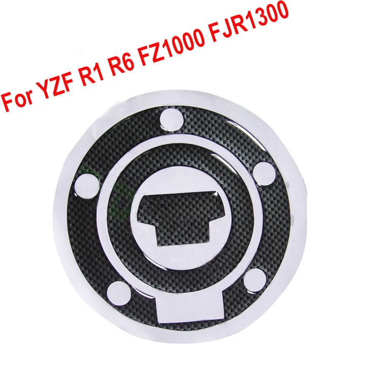 Styling Carbon Fiber Fuel Tank Cap Cover Pad Decal Sticker Gas Tank Protector for Yamaha YZF R1 R6 FZ1000 FJR1300 Free Shipping(China (Mainland))