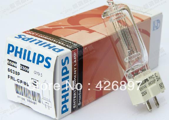 Philips 6638P 230V 650W Broadway entertainment lamp,FRL CP/89,film studio video lights,230V650W GY9.5 P3 halogen lighting bulb(China (Mainland))