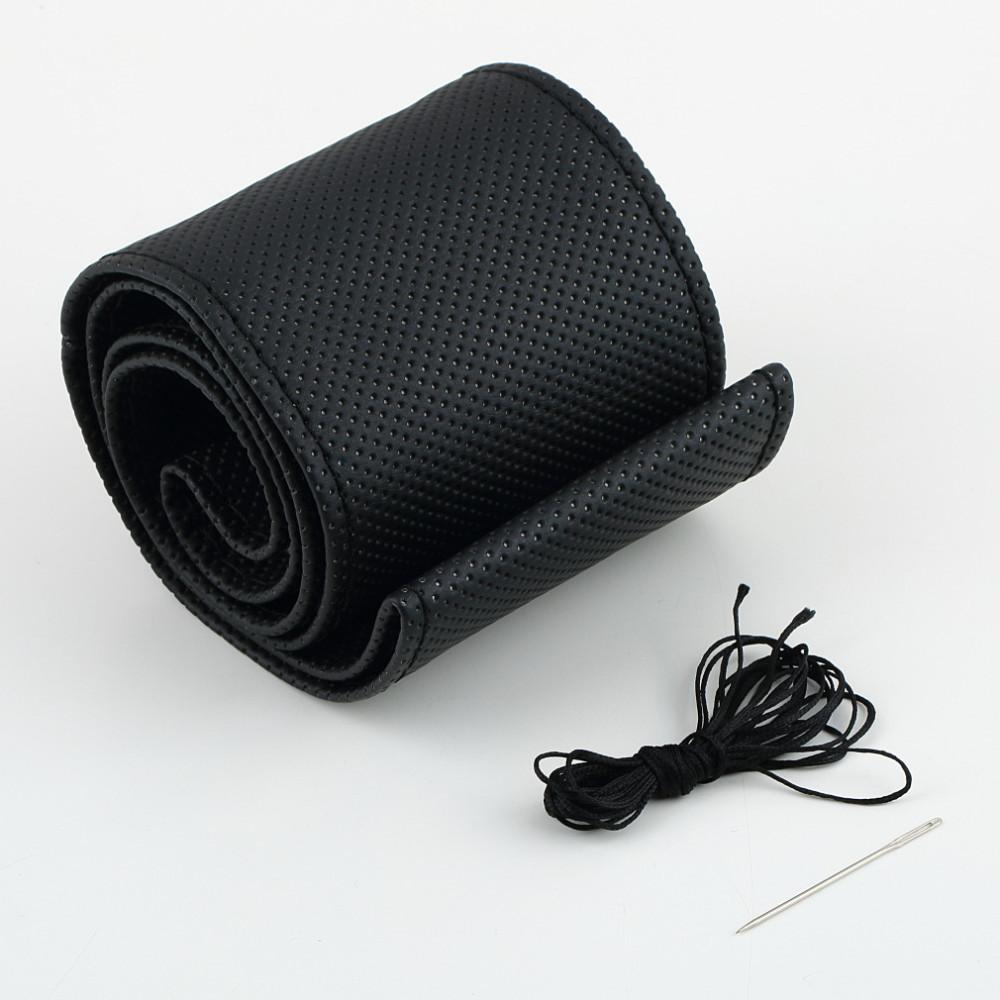 2017 New Universal braid on the steering wheel Sew Microfiber car steering wheel cover to cover the entire single connector 38cm