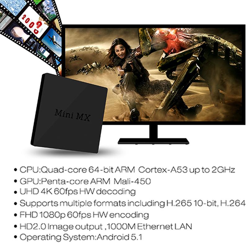 [해외]미니 MX 안드로이드 TV 박스 1G / 8G 와이파이 안드로이드..