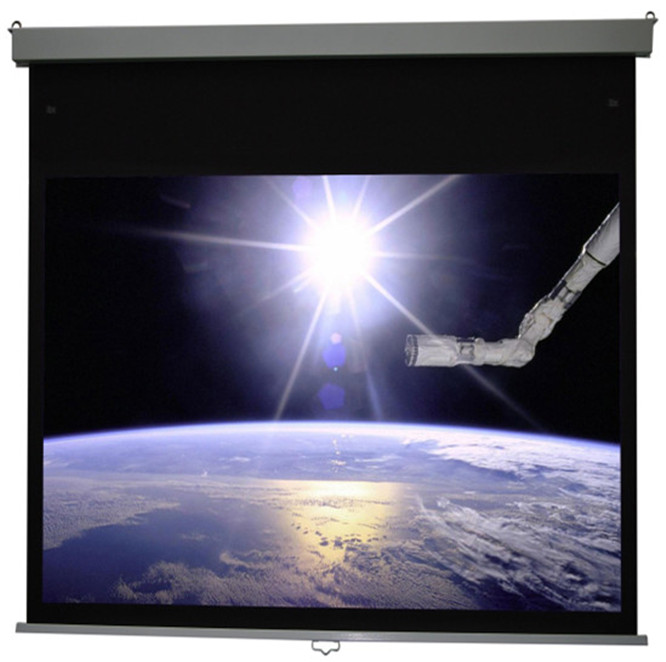 """94"""" 16:10 Manto/Square Manual Projector Screen slow return"""