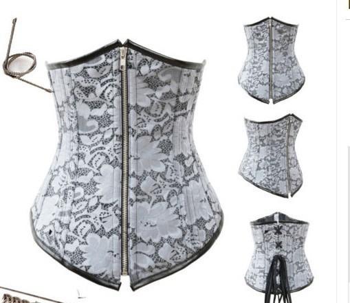 Waist training corset steampunk waist training corsets Women Gothic Steel Boned Corsets Corselet top Bustiers & Corsets 2015(China (Mainland))