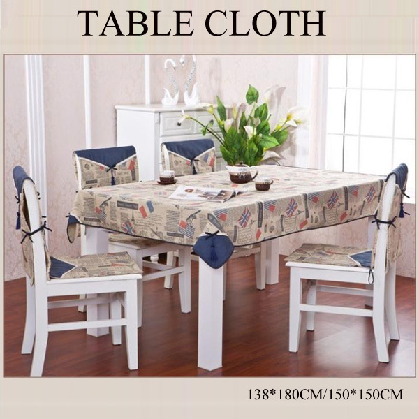 Attractive Modern Tablecloth Linen Fabric Dining Tablecloth Table Cloth Square Table  Cover Free Shipping(China (