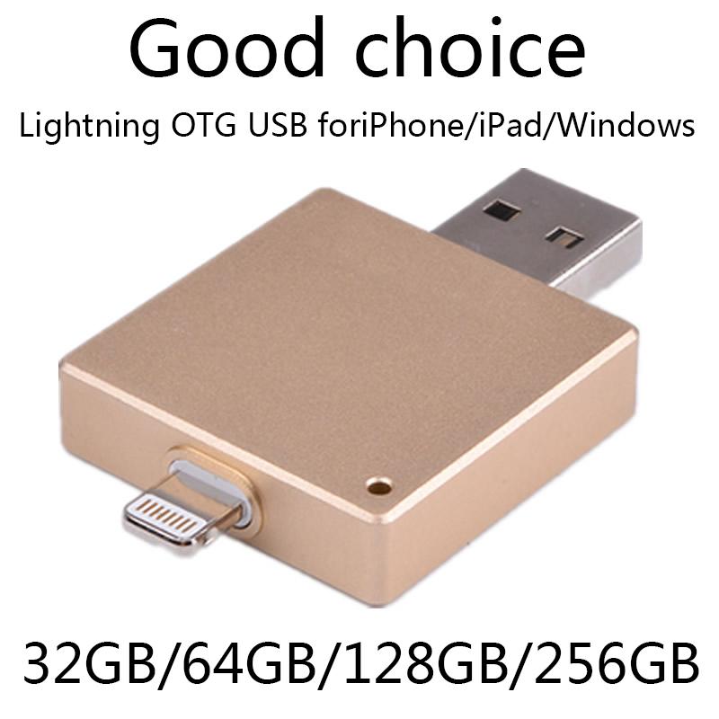 Factory Supplier OTG Usb Flash Drive 100% 64GB 128GB For Iphone 6/5/Ipad/Ipod, 16gb 32gb 64gb Pendriver Pen Drive 2TB 1TB Gift(China (Mainland))