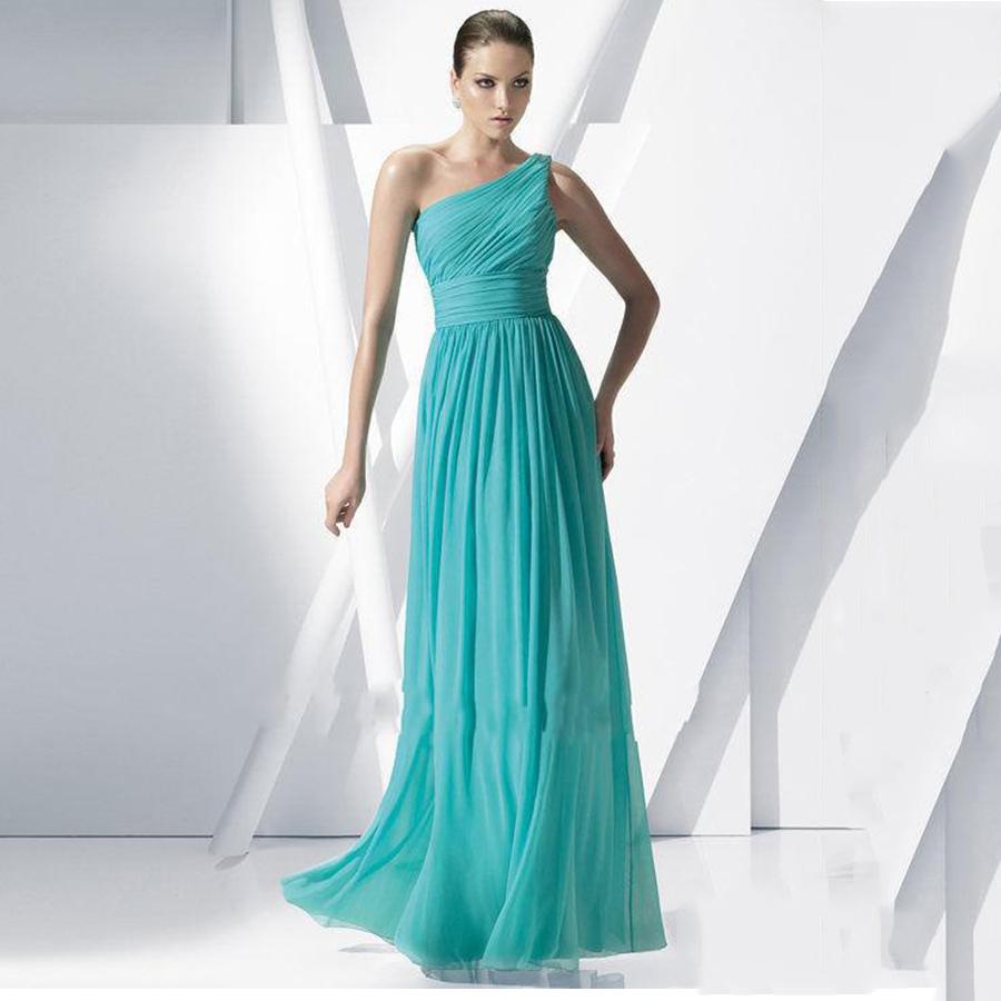 Вечернее платье с одним плечом