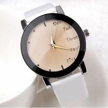 Fashion Leisure Dress Watch Women Wholesale PU Leather Quartz Watch Big Cute Dial Girls Stylish Letter Wristwatch Colorful Shop