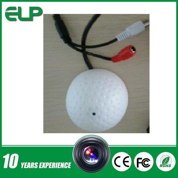90m square Audio Monitor Range CCTV mini golf dome style external Audio Microphone for cctv ip camera<br><br>Aliexpress