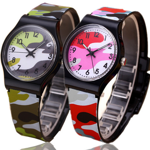 2015 Waterproof Cool Military Camouflage Children Watch Fashion Cartoon Quartz Watches for Girl Boy Kids Child Gift Relogio()