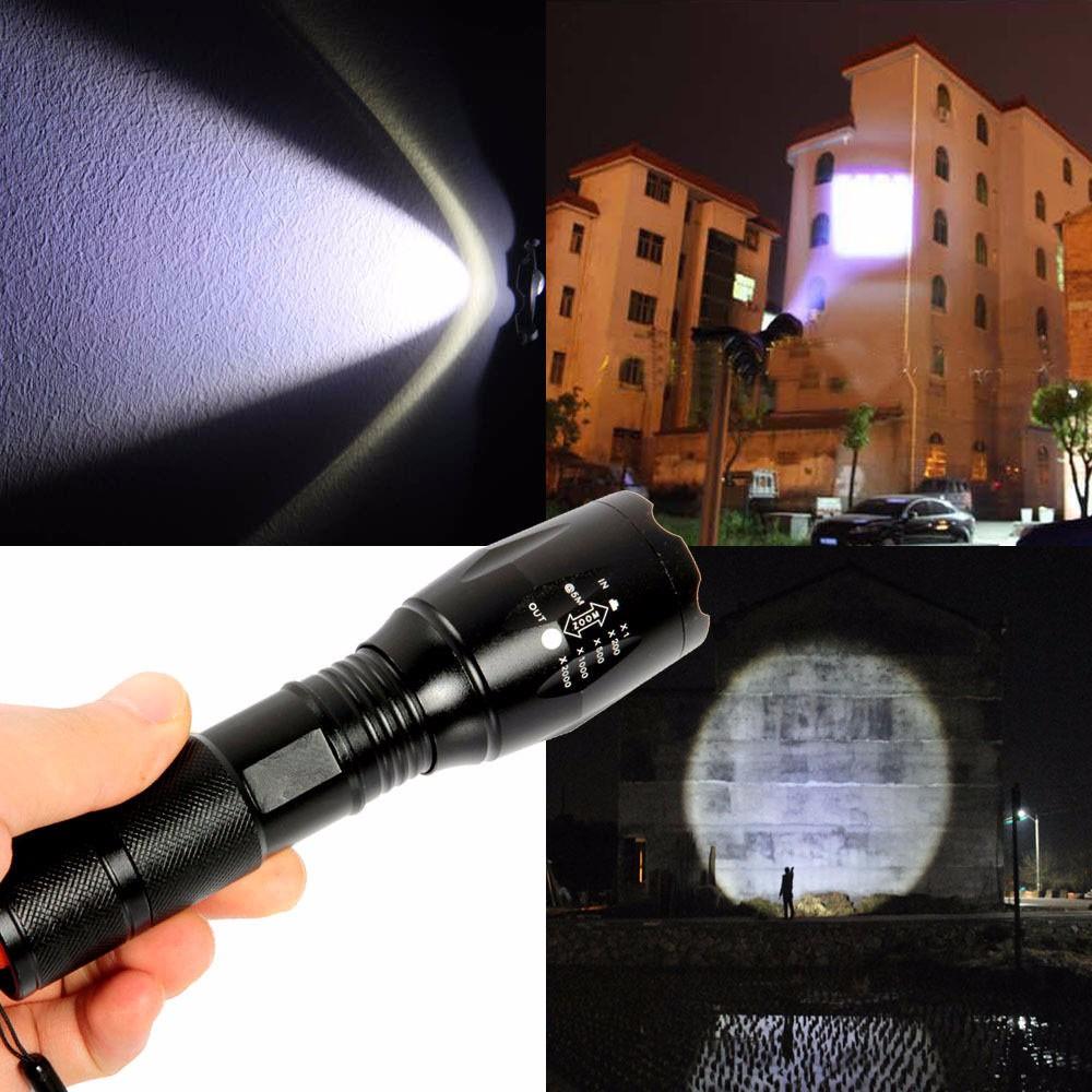 G700 X800 5000Lumen Zoomable XML T6 LED 18650 Flashlight Focus Torch Lamp Light