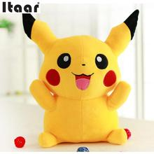 2016 New Hot Sale 30cm Pokemon Doll Anime Pikachu Soft Plush Toy Gift Cartoon Plush Pikachu Plush Doll
