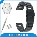 20mm Stainless Steel Watch Band Safety Buckle Strap for Ticwatch 2 42mm Replacement Belt Wrist Bracelet