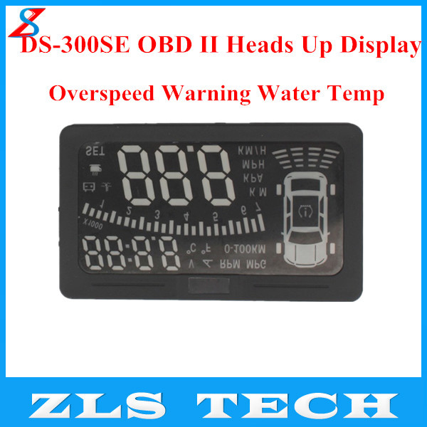 2015 New Products DS-300SE OBD II Heads Display HUD MILE KM Rpm Speed Overspeed Warning Battery Voltage Water Temp - Chongqing ZLS Technology Co., Ltd. store