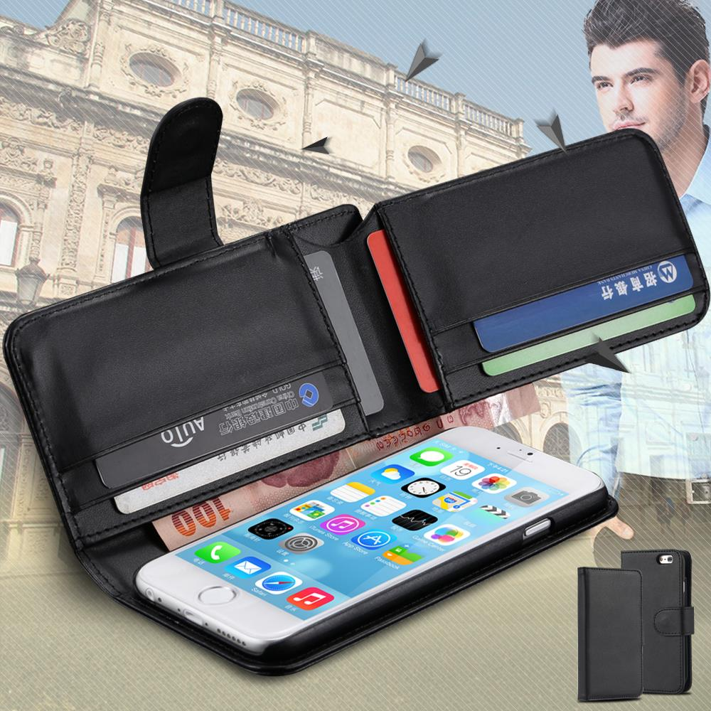 Leather Wallet Cellphone Case For iphone 6 4.7'' Phone Cover For iphone 6 Plus 5.5inch Photo Frame Card Cash Holder FET03913_4(China (Mainland))
