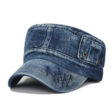 Fashion washing old-fashioned denim breathable outdoor army cap leisure baseball cap 4color 1pcs brand new arrive(China (Mainland))