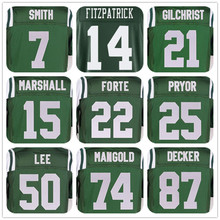 Wholesale Price MENS #14 Ryan Fitzpatrick#15 Brandon Marshall#22 Matt Forte#50 Darron Lee#74 Nick Mangold#87 Eric Decker# Jersey(China (Mainland))