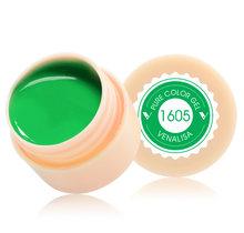 VENALISA Estrelado Pintura Cor Verniz Gel 180 Cores ml CANNI 5 Puro Nail Art Salon Soak Off UV do Prego LED art Design Desenho Gel(China)