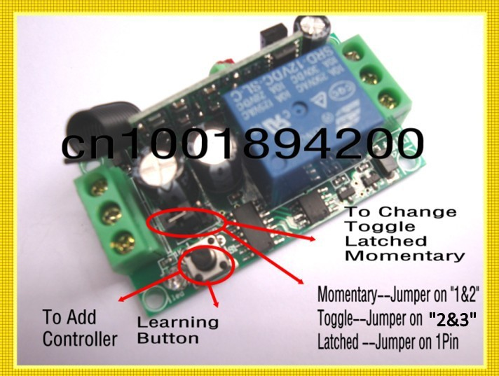 3000m Long Range Remote Control Switch DC 12V 1 CH 10A Relay Receiver Transmitter Learning Light
