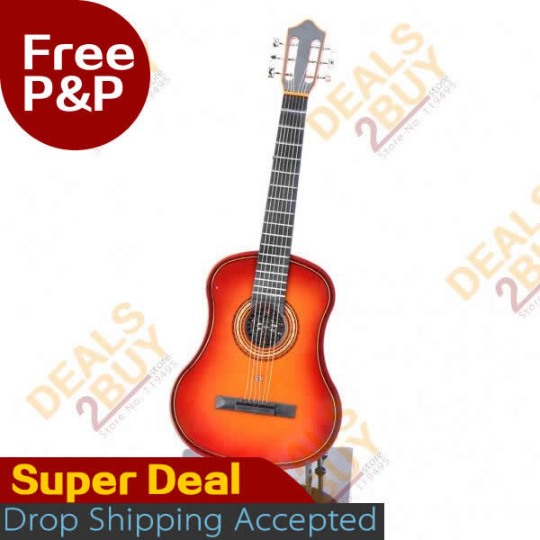 """Acoustic Guitar toy, Mini Handheld 17"""" 6-String Electric Guitar Toy - Random Color (2*AA), 2013 hot new design, free drop ship(China (Mainland))"""