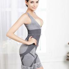 Women Bamboo Slimming Underbust Shapewear Corset Shaper Bodysuit S-XXXL  ES88(China (Mainland))
