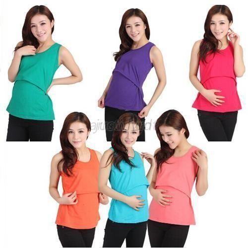 Summer Maternity Clothes Nursing Tops Breastfeeding Vest Top Nursing T-Shirt<br><br>Aliexpress