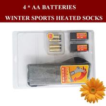 1 Pair Free Shipping 1 5V AA font b Battery b font Heating Men Thermal Socks