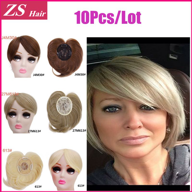 Clip In Bangs 10 Pcs/Lot Different Colors Available Natural Hair Bangs Japan High Heat Resistance Synthetic Fiber 40g Hair Wig(China (Mainland))