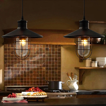 Buy RH loft Vintage CAGE PENDANT lamp industrial lighting edison bulb Dining Room Lving Room Bar Light pendant lights balcony lamps for $62.23 in AliExpress store