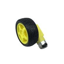 Smart Car Robot Tire Tyre Wheel + DC Gear Motor Remote Control Accessories DIY w/ 1:48 Set for raspberry pi 2 banana pi M3(China (Mainland))