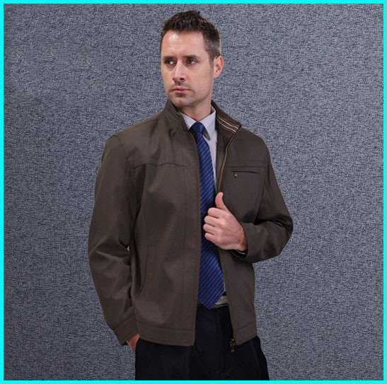 High quality Spring and Autumn Men's work Jackets elderly Business coats stand Collar vetement homme(China (Mainland))