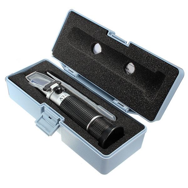 Hand Held RSG-100ATC 0-32% Brix Refractometer Black Beer Sugar Wine Wort Wine Milk Tools Set Measurement(China (Mainland))