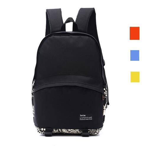 2016 мода печать женщин рюкзаки холст черный школьные сумки для подростков девочек ...