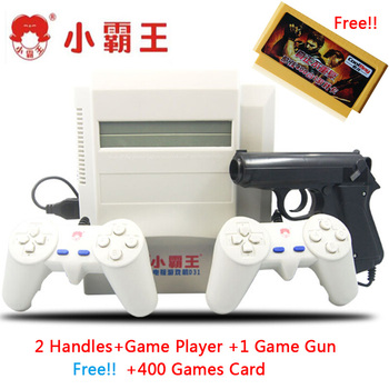 Subor D31 TV game console bully 8 bit Double handle nostalgic classic shooting game+400 IN 1game card Family Video Game Consoles