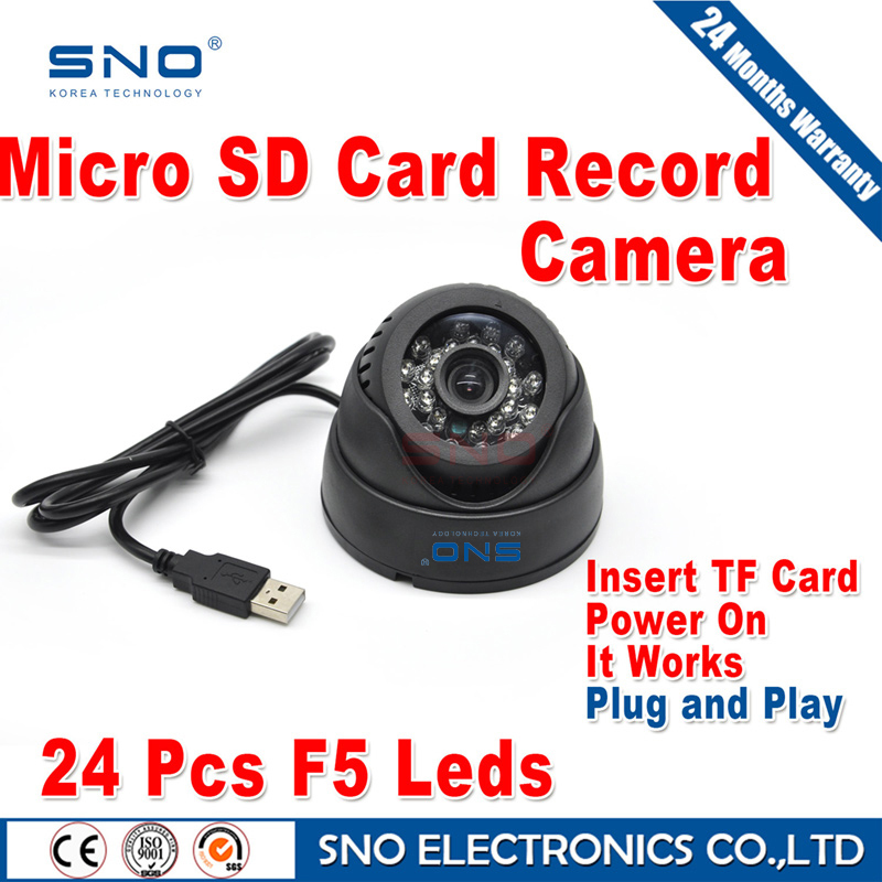 SNO Security USB Tf Card 64GB Dome IR CCTV Camera Video Night Vision Auto Car Driving record Recorder Recording DVR Waterproof(China (Mainland))