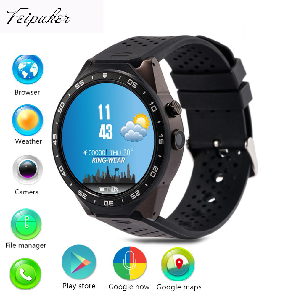 Feipuker kw88 Android 5.1 Smart Watch 512MB + 4GB Bluetooth 4.0 WIFI 3G Smartwatch Phone Wristwatch Support Google Voice GPS Map(China (Mainland))