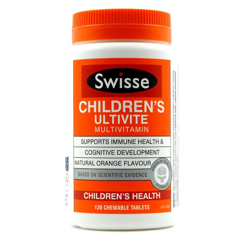 Swisse Childrens Ultivite 120 Tablets containing premium quality ingredients to help support a childs diet and wellbeing<br><br>Aliexpress