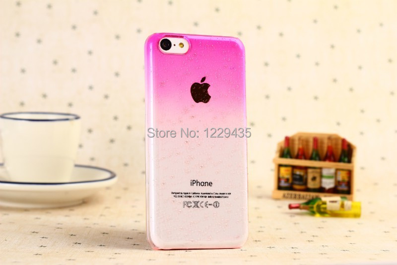 The new drop beads series powder pink phone shell cases for the iphone 5 c(China (Mainland))